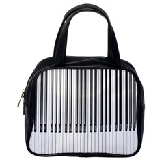 Abstract Piano Keys Background Classic Handbags (One Side)