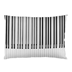 Abstract Piano Keys Background Pillow Case