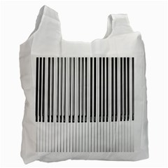 Abstract Piano Keys Background Recycle Bag (One Side)