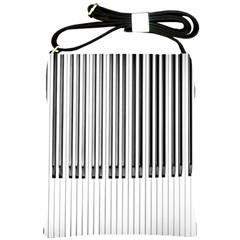 Abstract Piano Keys Background Shoulder Sling Bags
