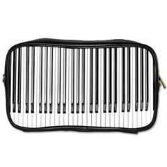 Abstract Piano Keys Background Toiletries Bags