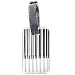 Abstract Piano Keys Background Luggage Tags (One Side)