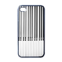 Abstract Piano Keys Background Apple iPhone 4 Case (Black)