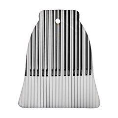 Abstract Piano Keys Background Bell Ornament (two Sides)