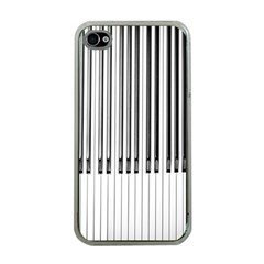 Abstract Piano Keys Background Apple iPhone 4 Case (Clear)