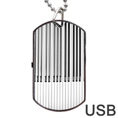 Abstract Piano Keys Background Dog Tag Usb Flash (one Side)