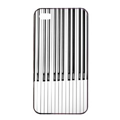 Abstract Piano Keys Background Apple iPhone 4/4s Seamless Case (Black)