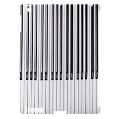Abstract Piano Keys Background Apple Ipad 3/4 Hardshell Case (compatible With Smart Cover)