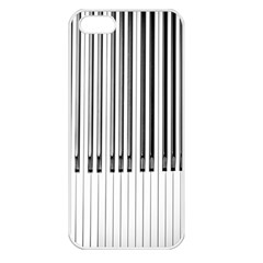 Abstract Piano Keys Background Apple Iphone 5 Seamless Case (white)