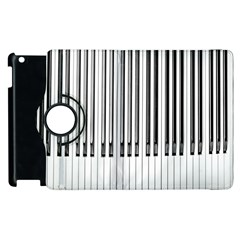 Abstract Piano Keys Background Apple Ipad 3/4 Flip 360 Case
