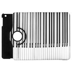 Abstract Piano Keys Background Apple iPad Mini Flip 360 Case