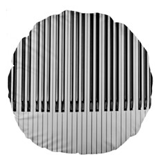 Abstract Piano Keys Background Large 18  Premium Round Cushions