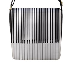 Abstract Piano Keys Background Flap Messenger Bag (L)