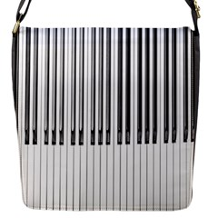 Abstract Piano Keys Background Flap Messenger Bag (S)
