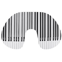 Abstract Piano Keys Background Travel Neck Pillows