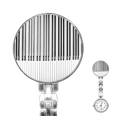 Abstract Piano Keys Background Stainless Steel Nurses Watch
