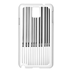 Abstract Piano Keys Background Samsung Galaxy Note 3 N9005 Case (white)