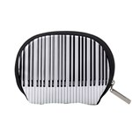 Abstract Piano Keys Background Accessory Pouches (Small)  Back