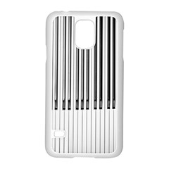 Abstract Piano Keys Background Samsung Galaxy S5 Case (white)
