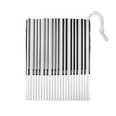 Abstract Piano Keys Background Drawstring Pouches (large)