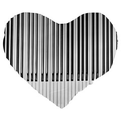 Abstract Piano Keys Background Large 19  Premium Flano Heart Shape Cushions