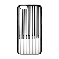 Abstract Piano Keys Background Apple Iphone 6/6s Black Enamel Case
