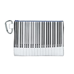 Abstract Piano Keys Background Canvas Cosmetic Bag (m)