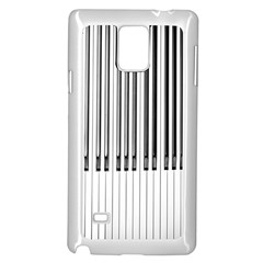 Abstract Piano Keys Background Samsung Galaxy Note 4 Case (White)
