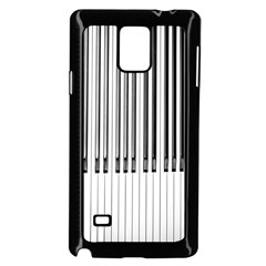 Abstract Piano Keys Background Samsung Galaxy Note 4 Case (Black)