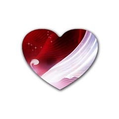 Dreamworld Studio 2d Illustration Of Beautiful Studio Setting Rubber Coaster (Heart)
