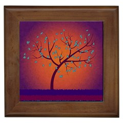 Beautiful Tree Background Framed Tiles