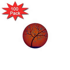 Beautiful Tree Background 1  Mini Buttons (100 pack)
