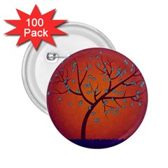 Beautiful Tree Background 2 25  Buttons (100 Pack)
