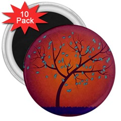 Beautiful Tree Background 3  Magnets (10 pack)
