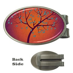 Beautiful Tree Background Money Clips (Oval)