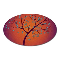 Beautiful Tree Background Oval Magnet