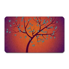 Beautiful Tree Background Magnet (Rectangular)