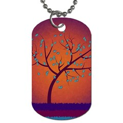 Beautiful Tree Background Dog Tag (one Side)