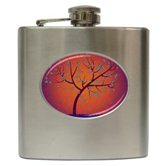 Beautiful Tree Background Hip Flask (6 oz)
