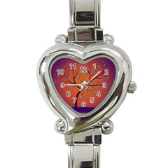 Beautiful Tree Background Heart Italian Charm Watch