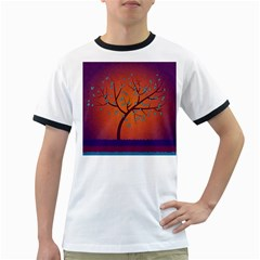 Beautiful Tree Background Ringer T-Shirts