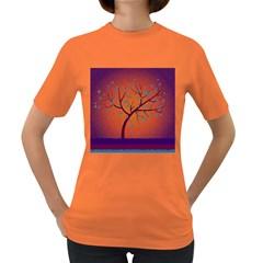 Beautiful Tree Background Women s Dark T Shirt