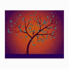 Beautiful Tree Background Small Glasses Cloth