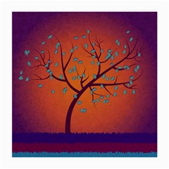 Beautiful Tree Background Medium Glasses Cloth (2-Side)