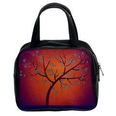 Beautiful Tree Background Classic Handbags (2 Sides)