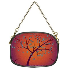 Beautiful Tree Background Chain Purses (two Sides)