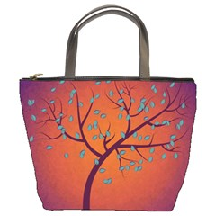 Beautiful Tree Background Bucket Bags