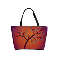 Beautiful Tree Background Shoulder Handbags