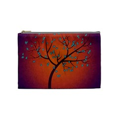 Beautiful Tree Background Cosmetic Bag (medium)