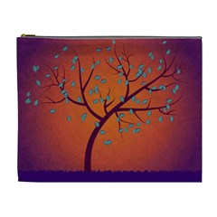 Beautiful Tree Background Cosmetic Bag (xl)